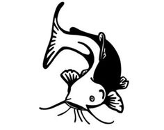Your place to buy and sell all things handmade Catfish Tattoo, Volunteer Gifts, Volunteer Appreciation, Fish Template, Fish Icon, Catfish Fishing, Fish Wallpaper, Custom Decals, Awareness Ribbons