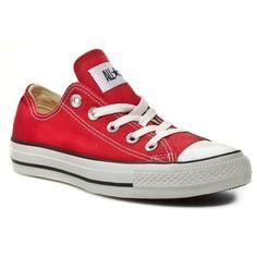 0555ea690138d6 Red Converse sneakers.  trampki  sneakers