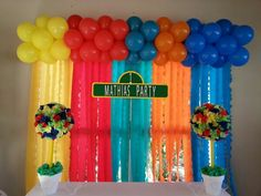 Sesame street party plaza sesamo cumpleaños numero uno 1st birthday decoracion plaza sesamo  decoration party kids ideas sesame street birthday sesame street party ideas