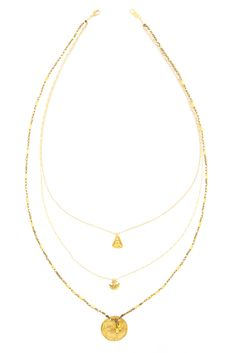 Chan Luu - Gold Toned Three Strand Statement Necklace, $205.00 (http://www.chanluu.com/necklaces/gold-toned-three-strand-statement-necklace/)