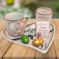 Anneye Hediye Canım Annem Kahve Fincan Seti