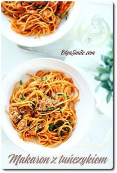 Pasta with tuna Tuna Pasta, Italian Recipes, Italian Foods, Noodles, Spaghetti, Gluten Free, Meals, Cooking, Ethnic Recipes