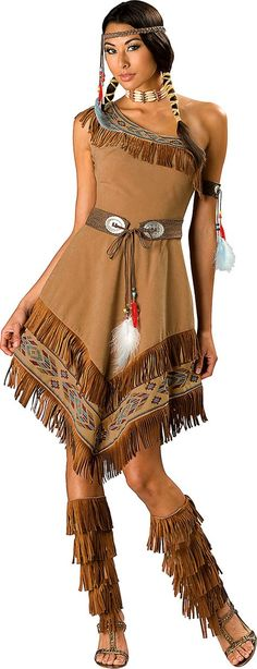 Adult Maiden Native American Costume Elite - Party City