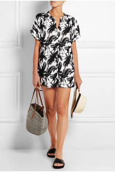 Mikoh|Cannes printed jersey coverup|NET-A-PORTER.COM