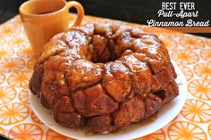 Ever Cinnamon Pull Apart Monkey Bread! Easy recipe only four ingredients! Cinnamon Pull Apart Bread, Cinnamon Bread, Cinnamon Rolls, Breakfast Dishes, Breakfast Recipes, Dessert Recipes, Sunday Breakfast, Breakfast Pastries, Breakfast Club