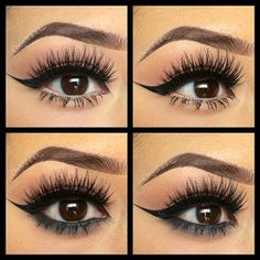 Nude vs black liner ♥