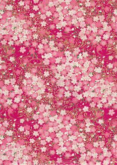 Pink Gold Floral  Japanese Yuzen Chiyogami Washi by mosaicmouse, $2.00