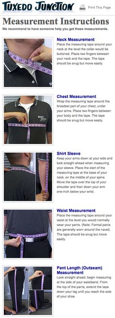 How to measure yourself for a tuxedo rental. Neck, chest, waist, pant length measurements. #weddinghowto, #tuxedomeasurements, #howtomeasure, #weddingfaq, #tuxedos, #howto, #wedding, #eventplanning, #tuxedojunction, #lasvegastux Tuxedo Wedding, Wedding Tuxedos, Crystal Springs Resort, Event Planning, Wedding Planning, Tuxedo Rental, Snug, Sewing, Formal