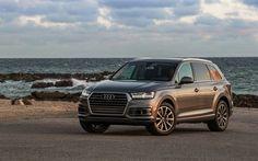 Scarica sfondi Audi Q7, 2016, grigio Q7, tramonto, crossover, auto tedesche, Audi