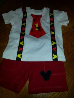Mickey Mouse 1st Birthday Outfit