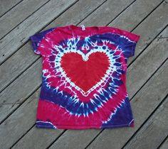 #Red #TyeDye #Heart #Pink #Purple #Spiral Tee by #MoonDyes #tiedye #goodvibes #brightdyes #hippie #boho #festivalwears #ooak