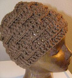 Crochet Geek - Basketweave Crochet Beanie Hat