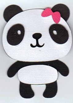 10 Panda Die Cuts Perfect for Card making by DecorCharm on Etsy, $6.00