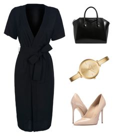 """Work Outfit"" by mitchieanne21 on Polyvore featuring WithChic, Massimo Matteo, Givenchy and Michael Kors"