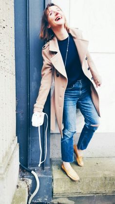 Blue and beige make for a great laid back style