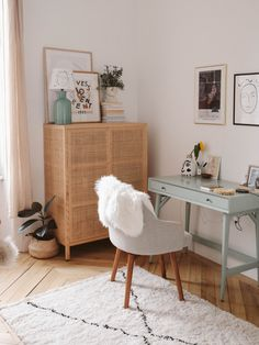 Spare Room Office, Home Office Space, Home Office Design, Home Office Decor, Home Decor, Cozy Office, Home Office Bedroom, Workspace Inspiration, Room Inspiration