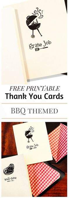 Printable Thank You Card {with BBQ humor} Free printable for that griller in your life.  These puns are really fun.