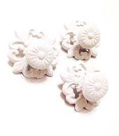 White Drawer Knobs Cabinet Knobs  White by LondonGraceBoutique
