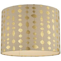 Gold Drops Canvas Drum Shade - this would be SUCH an easy DIY - gold pen anyone??