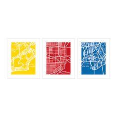 TRILLING Affiches, 3 pièces IKEA Motif créé par Clara Wells. Thème cohérent; une façon simple de créer un collage.
