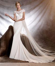 ONESI - Mermaid wedding dress with bateau neckline