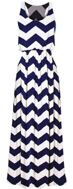 Racerback Chevron Maxi Dress