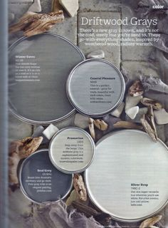 Paint colors in grays that are inspired by weathered wood with plenty of warmth. Paint Colors Used: Winter Gates by Benjamin Moore – An … Read Neutral Paint Colors, Paint Colors For Home, Wall Colors, House Colors, Cabin Paint Colors, Coastal Paint Colors, Bright Colors, Exterior Gray Paint, Exterior Colors