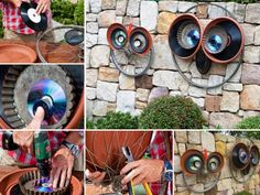 Adorable Recycled Bicycle Wheel Owl Art | The WHOot