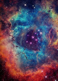 Rosette Nebula (also known as Caldwell 49) is a large, circular H II region located near one end of a giant molecular cloud in the Monoceros region of the Milky Way Galaxy.