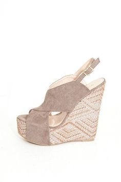 CROSS BAND WEDGE $38: We are loving the design on the heel of this wedge! Perfect with any outfit this spring!