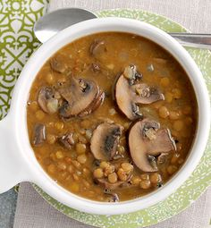 Created by: Carrie Robinson, Frugal Foodie Mama  One of my resolutions for this new year is to try and cook with different and healthier foods more often. I have to admit that until I had whipped up this Creamy Mushroom and Lentil Soup, I had never cooked with lentils before.