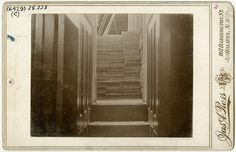Nova Scotia Archives - Harry Piers: Museum Maker -  Stacked lumber from the forward companionway