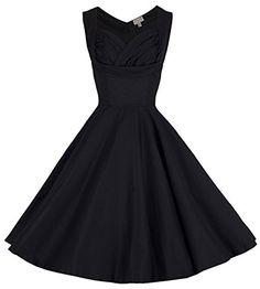 Lindy Bop 'Ophelia' 1950 Vintage Prom Robe Trapèze (38, Noir) Lindy Bop http://www.amazon.fr/dp/B00JGQLZLC/ref=cm_sw_r_pi_dp_pAWGub17M86RK