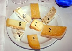 Perfect wine+cheese pairings.