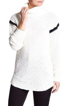 Super Soft Turtleneck Strip Sweater