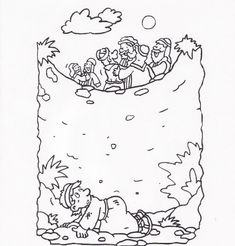 coloring (joseph thrown in the pit) - kids korner - biblewise ... - Bible Story Coloring Pages Joseph