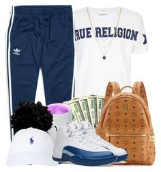 """""""Your not there enough"""" by tanyabanks-101 ❤ liked on Polyvore featuring True Religion, adidas Originals, MCM, Polo Ralph Lauren, NIKE and Orelia"""