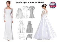 Robe de mariée-mariage- couture- sewing- patron couture- freepattern