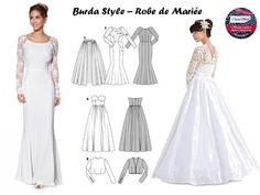 Patron Robe De Mariée sur Pinterest  Robes De Mariées, Robe De ...