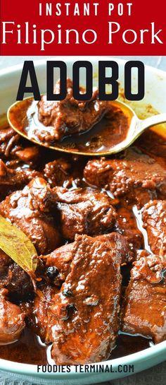 Filipino Pork Adobo, Filipino Pancit, Filipino Food, Filipino Recipes, Asian Recipes, Recipes With Adobo Sauce, Beef Adobo Recipe, Cooker Recipes, Beef Recipes