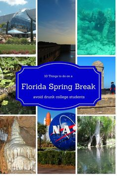 10 Things to do on a Spring Break trip to Florida.  Check out some places to avoid drunk college students.