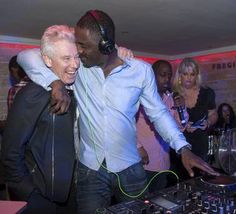 Adam Clayton and Idris Elba pictured Buck's Townhouse. International Super Star Idris Elba returned for his third DJ set at Dublin's Number 1 VIP venue. Pic Patrick O'Leary NO REPRO FEE for one use only
