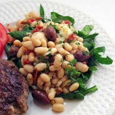Tuscan White Bean Salad with Spinach, Olives, and Sun-Dried Tomatoes @ ...