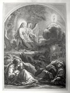 Luke in the Phillip Medhurst Collection 472 Christ's agony in Gethsemane Luke 22:43 Artist unknown on Flickr. A print from the Phillip Medhurst Collection of Bible illustrations, published by Revd. Philip De Vere at St. George's Court, Kidderminster.