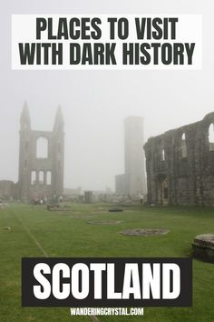Places to visit with a dark history in Scotland, Creepy places to visit in Scotland, abandoned places in Scotland, Dark History in Scotland, Scottish History, haunted castles in Scotland, Edinburgh Scotland haunted, spooky places in Scotland, Outlander locations, haunted places in Glasgow, Edinburgh Vaults, Glasgow Necropolis, Scottish Highlands, Things to do in Scotland, Scottish ghosts, Culloden Battlefield, #scotland #wanderingcrystal #schottland #escocia #edinburgh #glasgow #culloden Glasgow Necropolis, Scotland History, Uk Trip, Spooky Places, Scottish Highlands, Scotland Travel, Ghosts, Edinburgh, Tourism