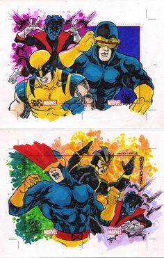 Marvel 75 Years (Rittenhouse Arquives/Marvel Comics, 2014). X-Men dos anos 1980.