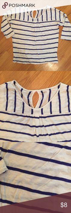 Selling this Ann Taylor Loft 3/4 Sleeve Size Large Shirt on Poshmark! My username is: volley4kix. #shopmycloset #poshmark #fashion #shopping #style #forsale #Ann Taylor LOFT #Tops