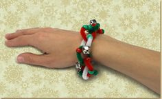 Christmas Bracelet for Children - pipe cleaners and silver bells