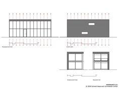 Minimum House,Elevation & Section