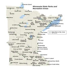 Map of MN state parks. We plan to do them all!
